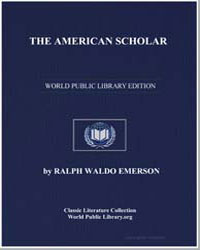 The American Scholar by Emerson, Ralph Waldo