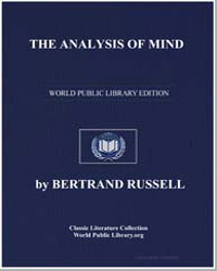 The Analysis of Mind by Russell, Bertrand