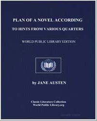 Plan of a Novel According to Hints from ... by Austen, Jane