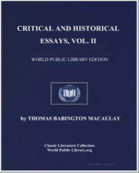 Critical and Historical Essays : Vol. 2 by Macaulay, Thomas Babington, Baron