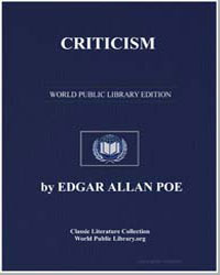 Criticism by Poe, Edgar Allan
