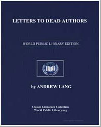 Letters to Dead Authors by Lang, Andrew