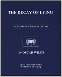 The Decay of Lying by Wilde, Oscar