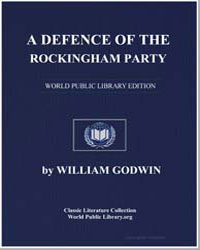 A Defense of the Rockingham Party by Godwin, William