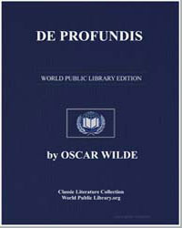 De Profundis by Wilde, Oscar