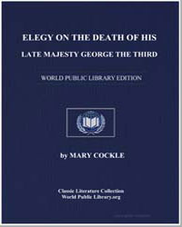 Elegy on the Death of His Late Majesty G... by Cockle, Mary