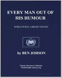 Every Man Out of His Humour by Johnson, Ben