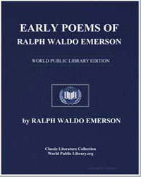 Early Poems of Ralph Waldo Emerson by Emerson, Ralph Waldo