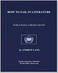 How to Fail in Literature by Lang, Andrew