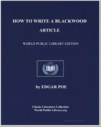 How to Write a Blackwood Article by Poe, Edgar Allan