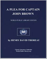 A Plea for Captain John Brown by Thoreau, Henry David