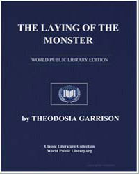 The Laying of the Monster by Garrison, Theodosia