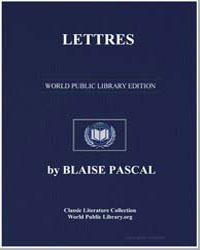 Lettres by Pascal, Blaise