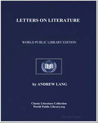Letters on Literature by Lang, Andrew