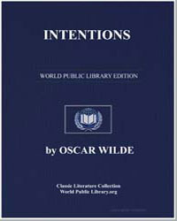 Intentions by Wilde, Oscar