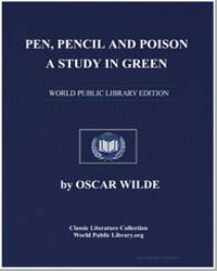Pen, Pencil and Poison : A Study in Gree... by Wilde, Oscar