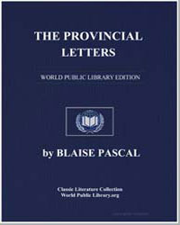 The Provincial Letters by Pascal, Blaise