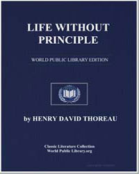 Life Without Principle by Thoreau, Henry David