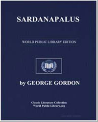 Sardanapalus by Byron, Lord