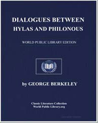 Dialogues between Hylas and Philonous by Berkeley, George