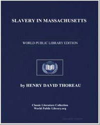 Slavery in Massachusetts by Thoreau, Henry David