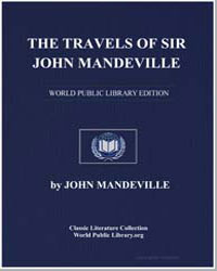 The Travels of Sir John Mandeville by Mandeville, Sir John