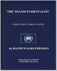 The Transcendentalist by Emerson, Ralph Waldo
