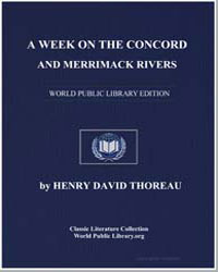 A Week on the Concord and Merrimack Rive... by Thoreau, Henry David