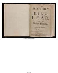 The History of King Lear : Acted at the ... by Shakespeare, William