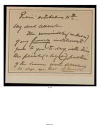 Letter ; Paris, to Aldrich, Score 100013... by James, Henry