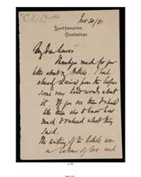 Letter : 1881 November 30 : Frederic W. ... by Myers, F. W. H. (Frederic William Henry)