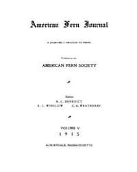 American Fern Journal : 1915 Vol. 5 No. ... Volume Vol. 5 by