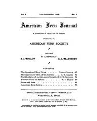 American Fern Journal : 1918 Vol. 8 No. ... Volume Vol. 8 by