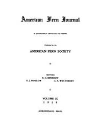 American Fern Journal : 1919 Vol. 9 No. ... Volume Vol. 9 by