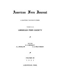 American Fern Journal : 1921 Vol. 11 No.... Volume Vol. 11 by