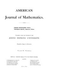 American Journal of Mathematics : 1889 V... Volume Vol. 11 by Sogge, Christopher