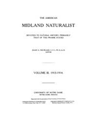 American Midland Naturalist : 1913 Vol. ... Volume Vol. 3 by