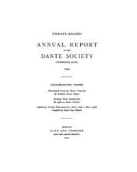 Annual Reports of the Dante Society : 19... by