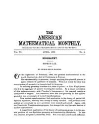 The American Mathematical Monthly : 1899... Volume Vol. 6 by Chapman, scott