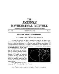 The American Mathematical Monthly : 1902... Volume Vol. 9 by Chapman, scott