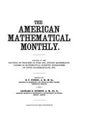 The American Mathematical Monthly : 1903... Volume Vol. 10 by Chapman, scott