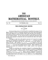 The American Mathematical Monthly : 1904... Volume Vol. 11 by Chapman, scott