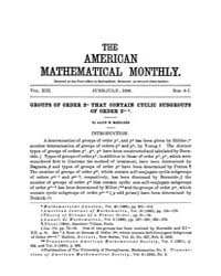 The American Mathematical Monthly : 1906... Volume Vol. 13 by Chapman, scott