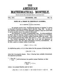 The American Mathematical Monthly : 1909... Volume Vol. 16 by Chapman, scott