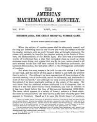 The American Mathematical Monthly : 1911... Volume Vol. 18 by Chapman, scott