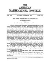The American Mathematical Monthly : 1912... Volume Vol. 19 by Chapman, scott
