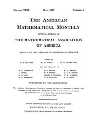 The American Mathematical Monthly : 1917... Volume Vol. 24 by Chapman, scott