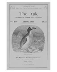 The Auk : 1895 Apr. No. 2 Vol. 12 Volume Vol. 12 by Murphy, Michael