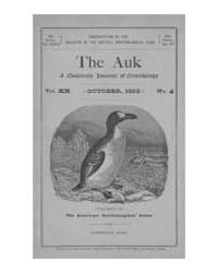 The Auk : 1903 Oct. No. 4 Vol. 20 Volume Vol. 20 by Murphy, Michael